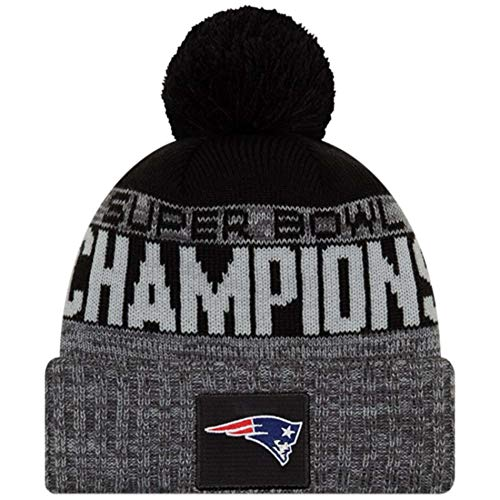 New Era New England Patriots Heather Charcoal Super Bowl LIII Champions Parade Knit -
