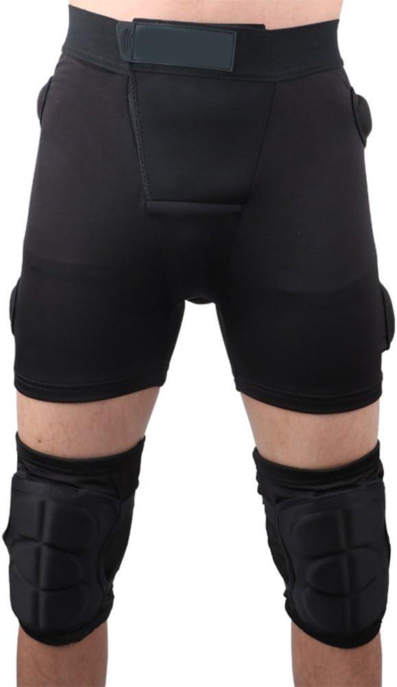 Aoile Adultos Respirables elásticos Que protegen los Pantalones de la Cadera Rodillera para Patinaje sobre Ruedas Hombres de esquí Montar a Caballo Mujeres