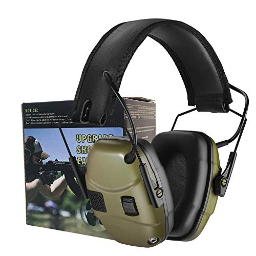 GUCHO Electronic Shooting Earmuff for Impact Sport, Sound Amplification Ear Protection Muff, Noise Reduction Hunting Earmuff, NRR 22dB, Ideal for Shooters and Hunting