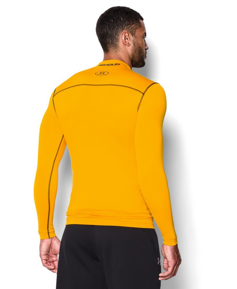 Under Armour Men's ColdGear Armour Compression Mock Long Sleeve Shirt, Steeltown Gold /Black, XXX-Large by Under Armour (Image #2)