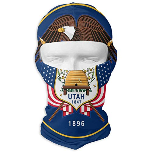 Neck Scarf Sunscreen Hats Ski Mask Utah State Flag Sun UV Protection Dust Protection Wind-Resistant Face Mask for Running Cycling Fishing
