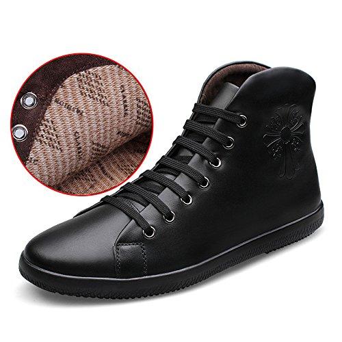 JIN Big Ankle Men Boots Warm Snow Balck Boot Canvas Keep Canvas Shoes Snow Plush Boots Size Men Fashion 6rwqn60f