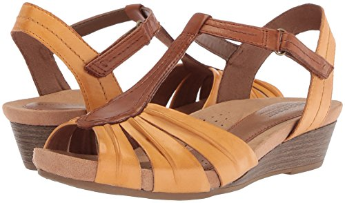 Pictures of Cobb Hill Women's Hollywood Pleat T Sandal CH0105 Amber Yellow 4