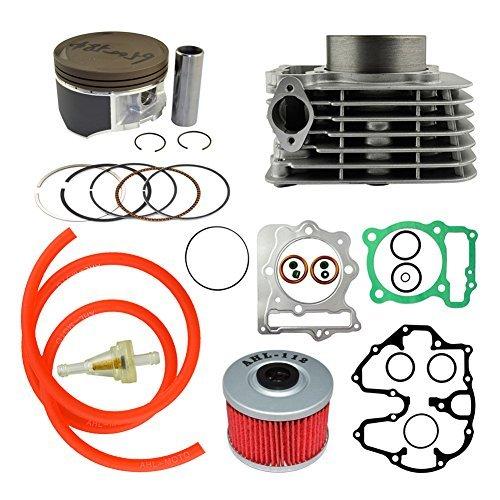 Piston Kit & Gasket & Oil Filter & Fuel Filter & 40cm Oil Tube Set 85mm Bore for Honda XR400 1996-2004 ()