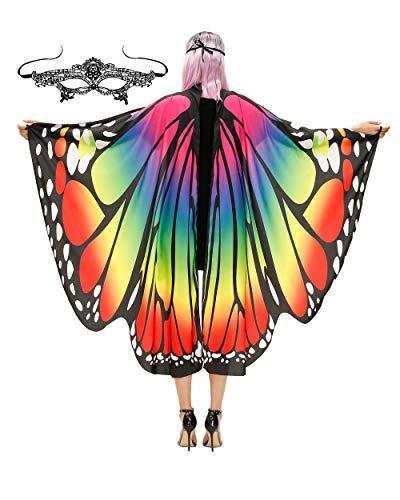 Easy Group Halloween Costume Idea (Butterfly Wings Costume Adult Halloween Butterfly Cape Costume Women)