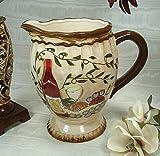 Tuscan Harvest Pattern Ceramic Pitcher