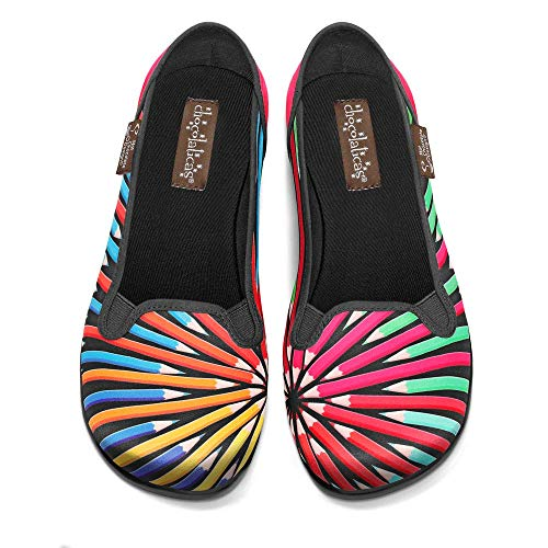 Hot Chocolate Design Chocolaticas Colorama Women's Slip-On Fashion Sneaker Flat Multicoloured HCD 37