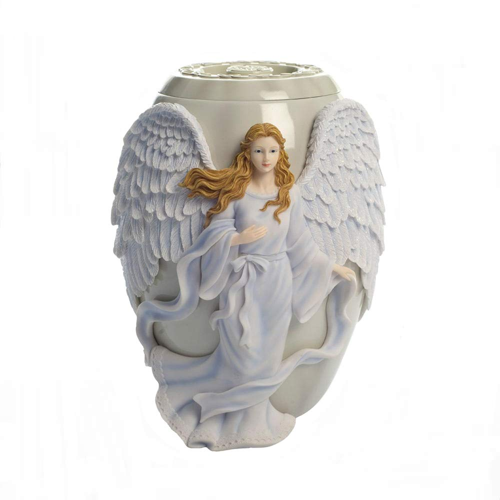 AngelStar Beloved Hand-Painted Angel Urn, 10-1/2-Inch, Marble Finish, 230 Cubic Inch