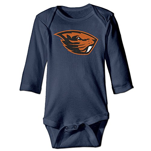Price comparison product image JJVAT Oregon State University Long-Sleeve Play Suit For 6-24 Months Boys & Girls Size 24 Months Navy