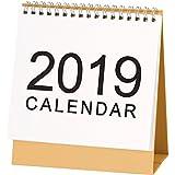 Hotop Desk Monthly Calendar Sep 2018 to Dec 2019, Desktop Calendar Monthly Planner Daily Calendar Planner for Students, Office Workers, Housewives (Medium)
