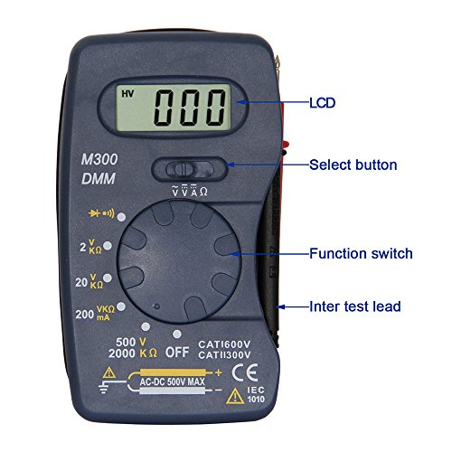 OLSUS M300 LCD Handheld Digital Multimeter for Home and Car - Blue by OLSUS (Image #6)