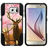 Galaxy S6 Case, Dual Layer Shell STRIKE Impact Kickstand Case with Unique Graphic Images for Samsung Galaxy S6 VI SM-G920 (T Mobile, Sprint, AT&T, US Cellular, Verizon) from MINITURTLE | Includes Clear Screen Protector and Stylus Pen - Pink Deer Stag