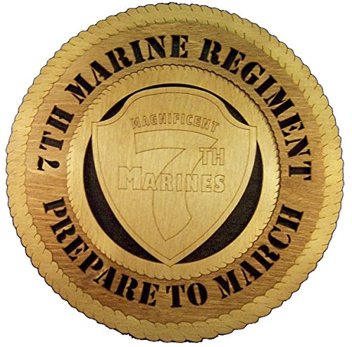 (Laser Engraved, Personalized WT393 7th Marine Regiment Wall Plaque)