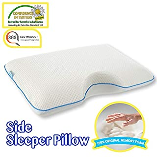 Comfyt Side Sleeper Pillow - Shoulder Pillow - Memory Foam Pillow - Bamboo Pillow Cover Cervical Pillow Orthopedic Pillow Supports Posture and Neck Bed Pillow Sleeping Pillow