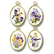 Janlynn Embroidery Kit, 4-1/4 by 3-1/4-Inch, Wildflowers and Finches