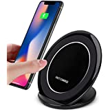 7TECH Wireless Charger Qi Fast Wireless Charging for iPhone X iPhone 8 iPhone 8 Plus Samsung Galaxy Note 8 S8 Plus