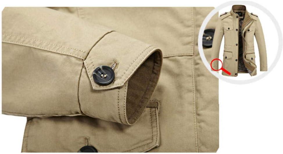 wanghuiminwje Casual College Style alla Moda Giacca da carico Calda Antivento Tasca con Zip Singola Foderato a Fiori Collo Antivento Colletto Piumino da Uomo 1