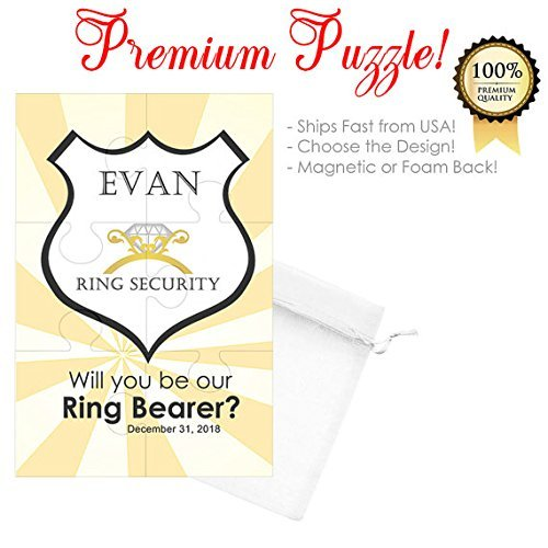 Will You Be Our Ring Bearer Puzzle / Wedding Ring Security