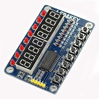 HiLetgo 8-Bit LED 8-Bit Digital Tube 8 KeyS TM1638 Display module for AVR Arduino ARM