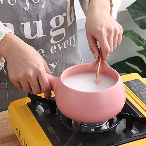 Sartenes Estofado mango largo olla de sopa olla de leche alta temperatura mini manija pote de leche olla antiadherente olla de fideos instantáneos olla de ...