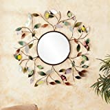 Southern Enterprises Decorative Metallic Leaf Wall Mirror
