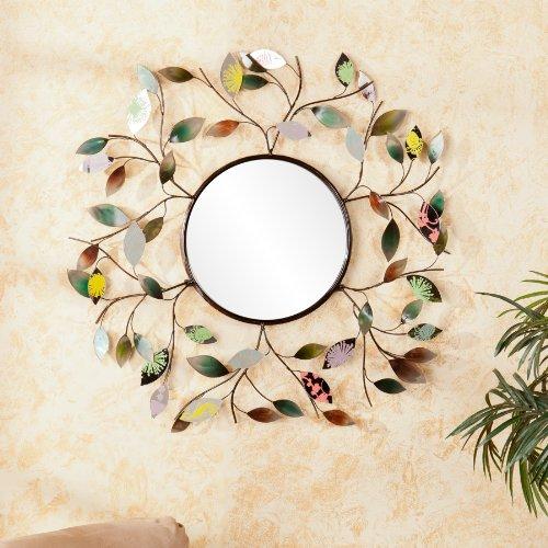 Southern Enterprises Decorative Metallic Leaf Wall Mirror by Southern Enterprises