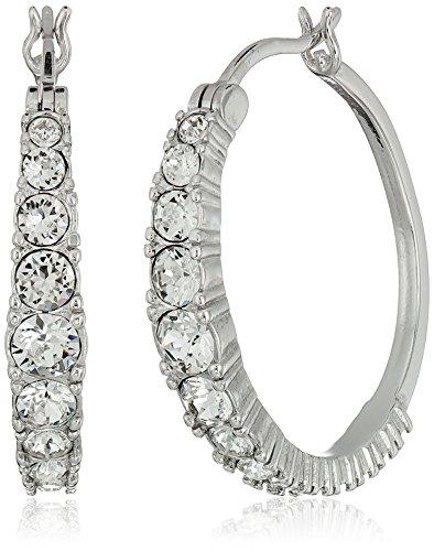 crystal hoop earrings - 5