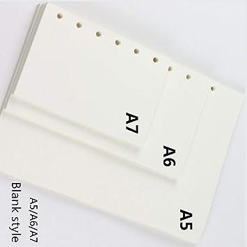 Carpeta de recambio para cuadernos de hojas sueltas de papel (A6, 6 anillas)