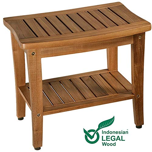 Teak Shower Bench, Teak Shower Stool, 20