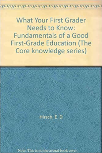 What Your First Grader Needs To Know Fundamentals Of A Good First