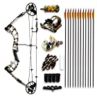 SereneLife Complete Compound Bow & Arrow Accessory Kit, Adjustable Draw Weight 30-70 lbs with Max Speed fps – Right Handed (SLCOMB15ST) 320