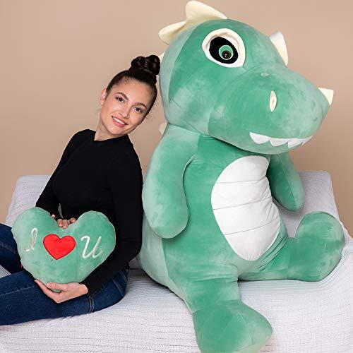 YESBEARS4 발 거대한 T-렉스 플러시 공룡 플러시 장난감 어린이를위한 선물(베개 포함)