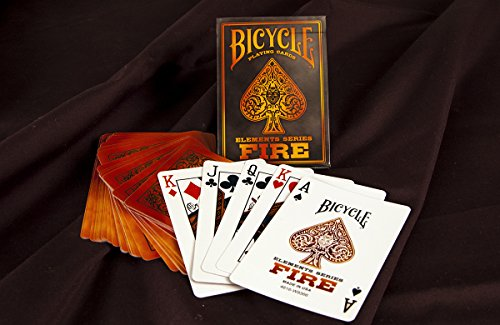 2 Decks Bicycle Fire Standard Poker Playing Cards (Orange Cards Playing Bicycle)