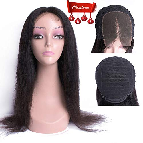 Aliabc Hair 4X4 Lace Patr Straight Human Hair Wigs Unprocessed Remy Human Hair Natural Color (16