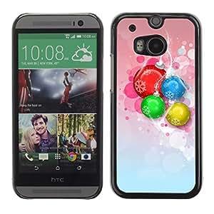 YOYO Slim PC / Aluminium Case Cover Armor Shell Portection //Christmas Holiday Decorations 1246 //HTC One M8