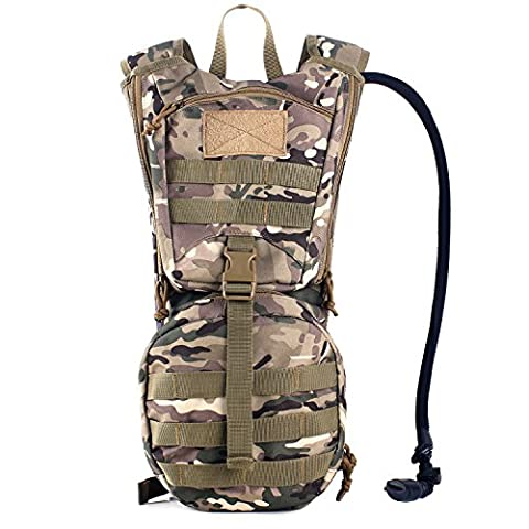 Tactical Hydration Pack Backpacks with 2.5L Bladder for Hiking, Biking, Running, Walking and Climbing - Airsoft Hydration Pack