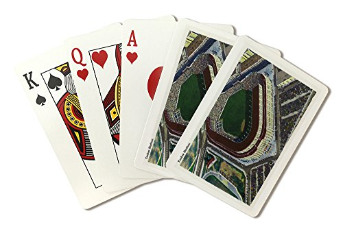 NYC, New York - Aerial View of Yankee Stadium (Playing Card Deck - 52 Card Poker Size with Jokers)