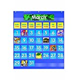 TEACHERS FRIEND MONTHLY CALENDAR POCKET CHART (Set of 6)