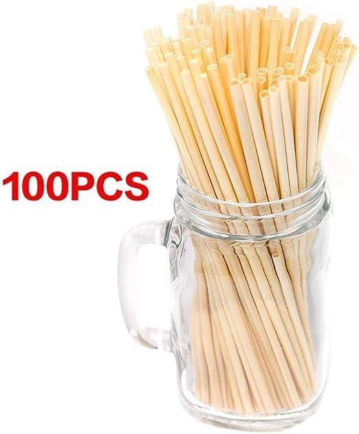 CMmin Pajitas biodegradables de Straws - Pajitas de Hierba for ...