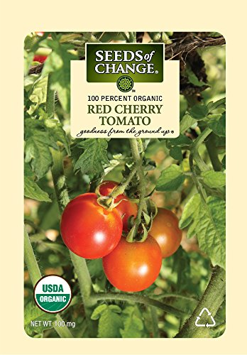 Tomato Seed Pack (Seeds of Change Certified Organic Tomato, Red Cherry - 100 milligrams, 25 Seeds Pack)