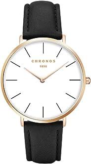 Fashion Classic Unisex Women Mens Watches PU Leather/Alloy Strap Anolog Ladies Gents Quartz Wrist Watch