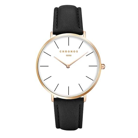 Relojes Mujer Reloj de Cuarzo Relojes Hermosas Correa de PU Cuero Artificial Relojes de la Mujer