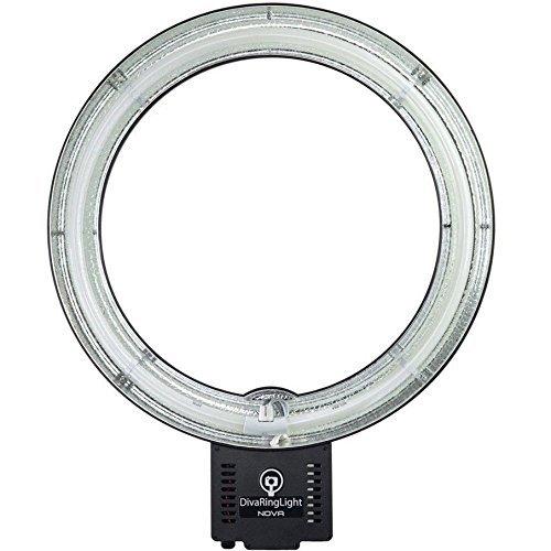 Diva Ring Light EURO Nova 240V 18'' Photo/Video Fluorescent Ring Light with Type C Plug by Diva Ring Light