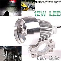 GOODKSSOP Bright 12W LED Metal Shell Motorcycle Fog Light Bar Spotlight Universal Motorcycle Headlight For All Electric Bike Work Driving Headlamp Spot Lamp Night Riding Safety 12v-80v