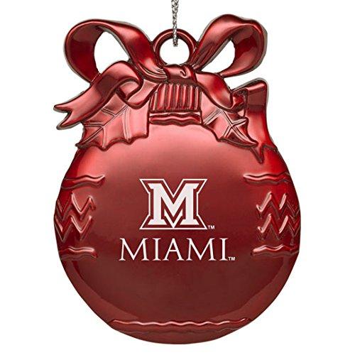 Miami University Ohio - Pewter Christmas Tree Ornament - -