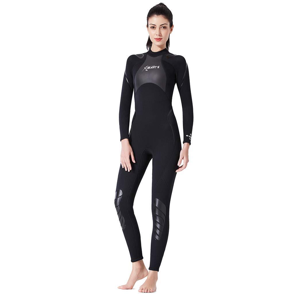 AIEason Womens Full Wetsuits Premium 1.5mm Neoprene Long Sleeve Long Leg Back Zip for Diving Snorkeling Swimming