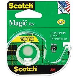 Scotch Magic Tape, 1/2 x 450 Inches, 5-pack