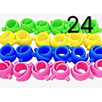 PeavyTailor 24 Pcs Spool Hugger Thread Huggers, Prevent Thread Unwinding, Sewing Supplies and Accessories. Perfect for Spools of Thread to be Used as Thread Huggers, Holder and Organizer.