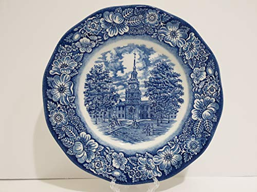 Staffordshire Liberty Blue Independence Hall Dinner Plate - Set of 4 ()