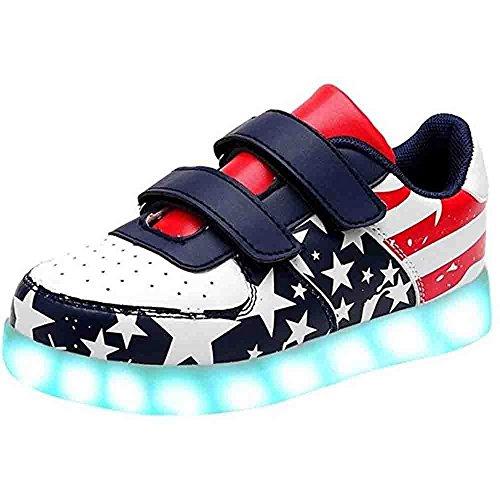 Toddler Little Big Kid Boy Girl Usb Flashing Led Shoes Light Up Sneaker Star 13 M Us Little Kid